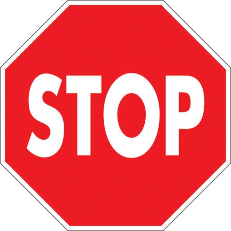 ".080 Reflective Aluminum ""Stop"" Sign"