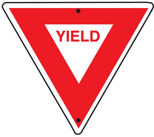 "Reflective Aluminum ""Yield"" Sign"