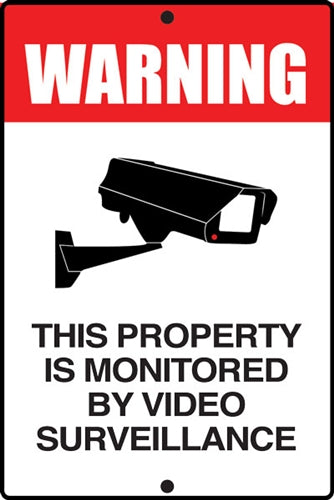 "Aluminum Sign ""WARNING Video Surveillance"""
