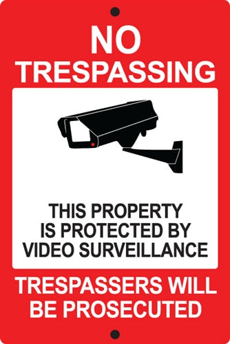 "Reflective Aluminum Sign ""No Trespassing"""