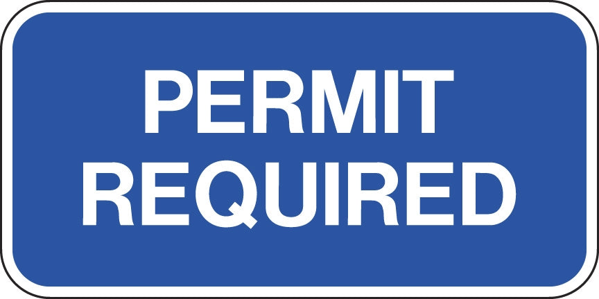 ".080 Reflective ""Permit Required"""