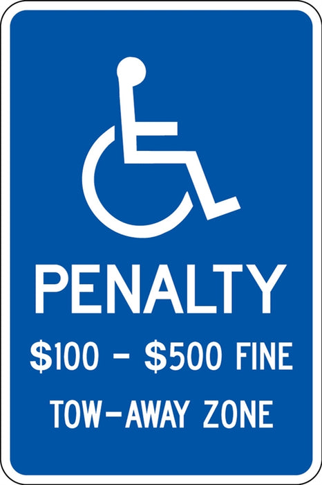 ".080 Reflective ""(handicap) PENALTY"""