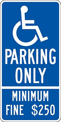 ".080 Reflective ""(handicap) PARKING ONLY"""