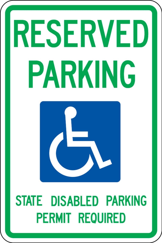".080 Reflective ""RESERVED PARKING"