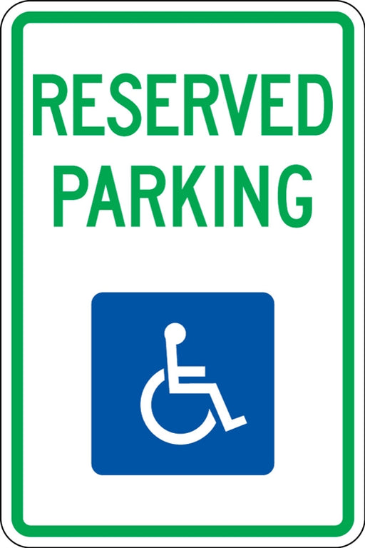".080 Reflective ""RESERVED PARKING (Handicapped)"