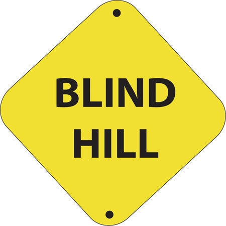 "Aluminum Trail Marker ""Blind Hill"""