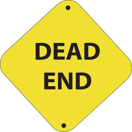 "Aluminum Trail Marker ""Dead End"""