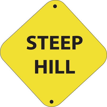 "Aluminum Trail Marker ""Steep Hill"""
