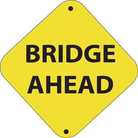 "Aluminum Trail Marker- ""Bridge Ahead"""