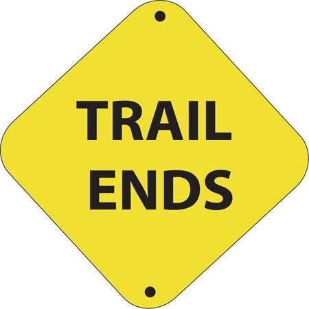 "Aluminum Trail Marker ""Trail Ends"""