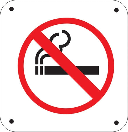 "Aluminum Sign - ""No Smoking"""