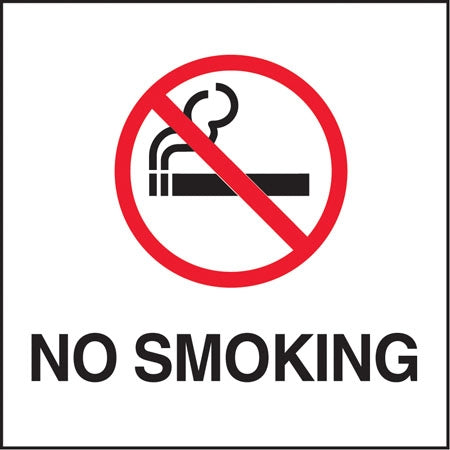 "No Smoking"" Symbol- 6""w x 6""h Decal"