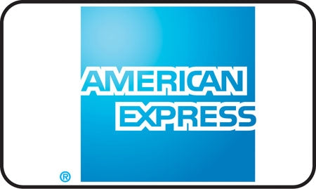 "American Express Credit Card Image- 5""w x 3""h Decal"