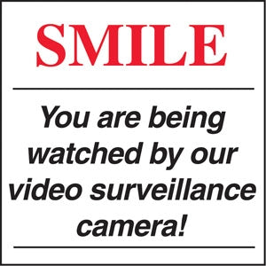 "Smile You Are Being watched- 6""w x 6""h Decal"