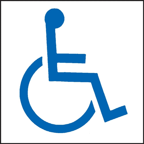"Handicap Symbol- 6""w x 6""h Decal"