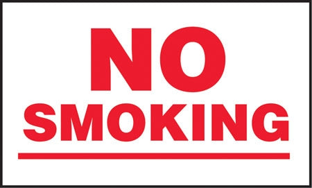 "No Smoking- 5""w x 3""h Decal"