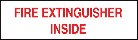 """Fire Extinguisher Inside"" Decal"