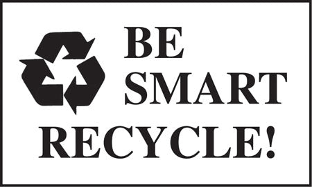 "Be Smart Recycle- 5""w x 3""h Decal"