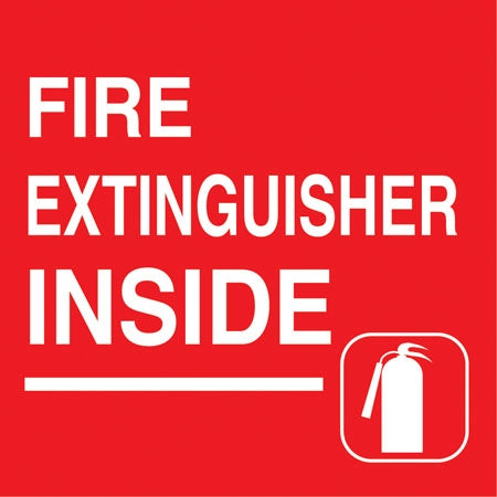 "Decal- ""Fire Extinguisher Inside"""