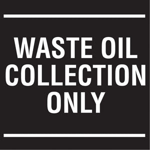 "Waste Oil Collection- 6""w x 6""h Decal"