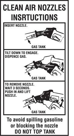 "Decal- ""Clean Air Nozzle Instructions"""