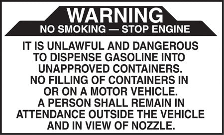 "Warning It Is Unlawful And Dangerous- 5""w x 3""h Decal"