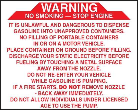 "Decal-  ""Warning It Is Unlawful And Dangerous"""