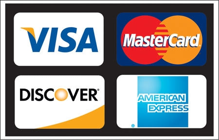 Visa, MasterCard, Discover And American Express Images Decal