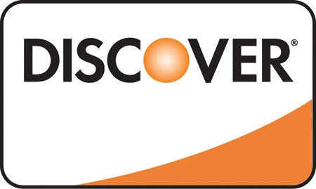 "Discover Card Image Double Sided-  5""w x 3""h Decal"
