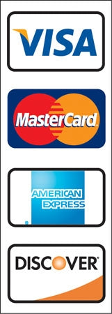 VISA MasterCard AMERICAN EXPRESS DISCOVER Double Sided Decal