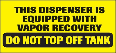 "Do Not Top Off Tank- 13""w x 6""h Decal"
