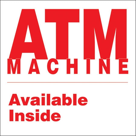"Decal- ""ATM Machine Available Inside"""