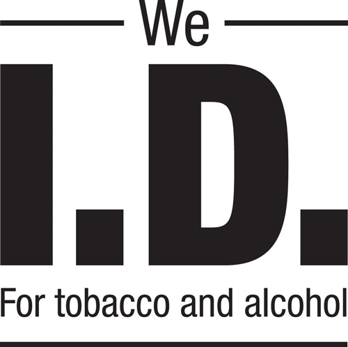 "We I.D. For Tobacco and Alcohol- 6""w x 6""h Decal"