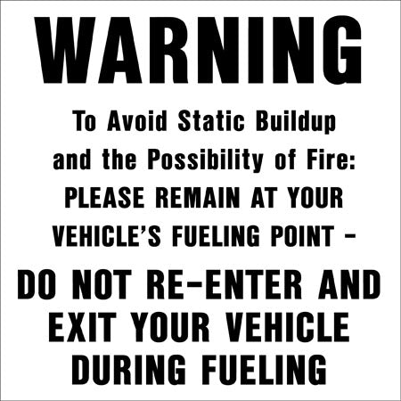 "Decal- ""Warning To Avoid Static"""