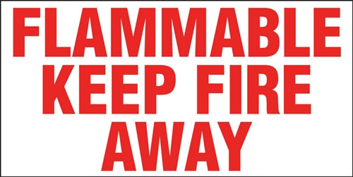 "Truck Decal- ""Flammable Keep Fire Away"""