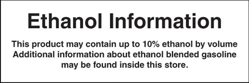 "Decal- ""Ethanol Information"""