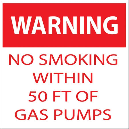 "Warning No Smoking Within- 6""w x 6""h Decal"
