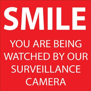 "Decal- ""Smile You Are Being Watched"""