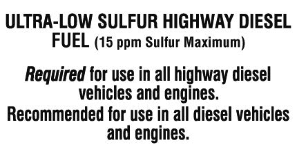 "Decal- ""Diesel Ultra Low Sulfur"""