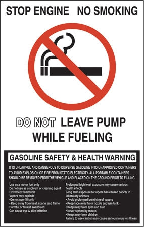 "Stop Engine No Smoking- 12""w x 19""h Decal"