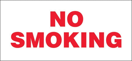 "No Smoking- 13""w x 6""h Decal"