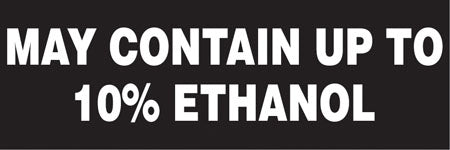 "Decal- ""May Contain Up To 10% Ethanol"""