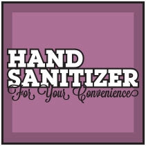 "Freshen Up!-3""w x 3""h Sanitizer Decal"