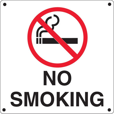 Aluminum Sign- No Smoking Symbol