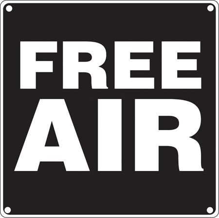 "Aluminum Sign- ""Free Air"""