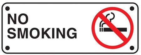"Aluminum Sign- ""No Smoking"" (with symbol)"