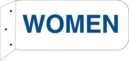 """Women""- 9""w x 4""h Aluminum Restroom Sign"