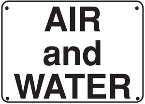 "Air And Water- 14""w x 10""h Aluminum Sign"