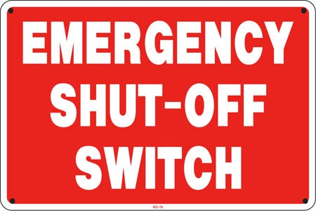 All Emergency Signs & Decals