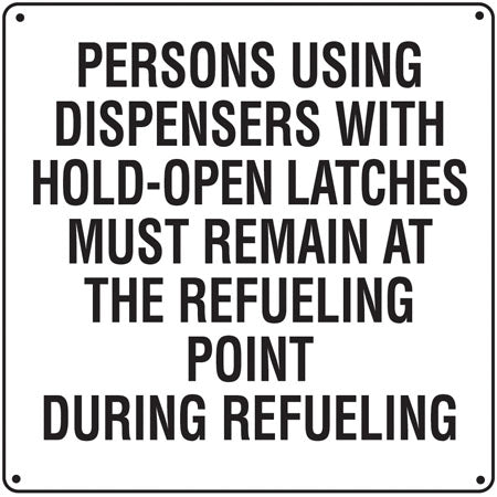 """Persons Using Dispensers"" Aluminum Sign"